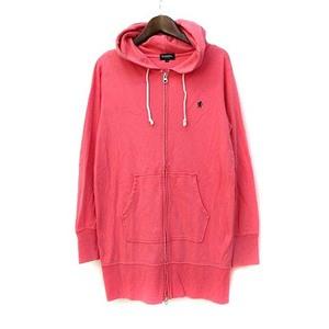 ジムフレックス Gymphlex パーカー 12 S ピンク 長袖 ロング 無地 シンプル ワンポイント ロゴ 刺繍 ジップアップ レディース