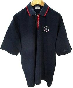 マンシングウェア MUNSINGWEAR GOLF ZYXON STYLE ゴルフ ウェア ポロシャツ 半袖 ワンポイント 刺繍 ネイビー 国内正規 メンズ