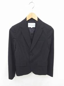 B&Y ユナイテッドアローズ BEAUTY&YOUTH ビューティー&ユース ジャケット テーラード 無地 シンプル 薄手 ウール 長袖 M 黒 ブラック /TT40