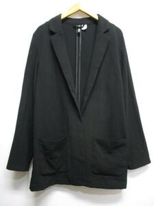 エイチ&エム H&M DIVIVED ストレッチ 1B テーラード ジャケット EUR38 黒 ブラック 長袖 スナップボタン レディース