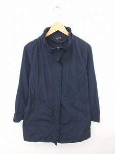 コムサイズム COMME CA ISM ジャケット アウター スタンドカラー ジップアップ 無地 シンプル 長袖 M 紺 ネイビー /TT59