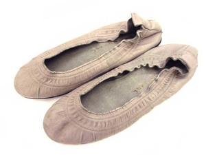 ヨーガンレール JURGEN LEHL フラットシューズ バレエシューズ パンプス 靴 レザー 革 サイズ23.5 グレー系 レディース