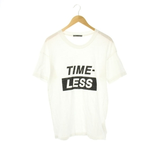 ビリー 20SS TIMELESS Tシャツ カットソー 半袖 プリント クルーネック XS 白 /AA ■OS