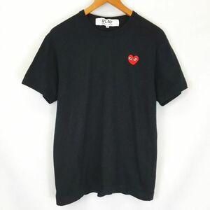 プレイコムデギャルソン PLAY COMME des GARCONS AD2020 レッド ハート ワッペン ワンポイント 半袖 Tシャツ カットソー AZ-T108 黒 M