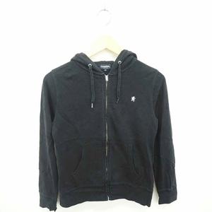 ジムフレックス Gymphlex パーカー ジップアップ 刺繍 ワンポイント 綿 コットン 長袖 14 黒 ブラック /TT1 レディース