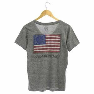 クロムハーツ CHROME HEARTS バックプリント VネックTシャツ カットソー 半袖 M グレー /AA ■OS メンズ