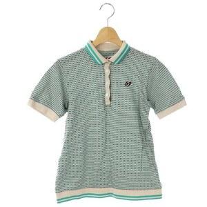 マスターバニー MASTER BUNNY EDITION エディション ポロシャツ 総柄 半袖 0 緑 ベージュ 茶 /HK ■OS