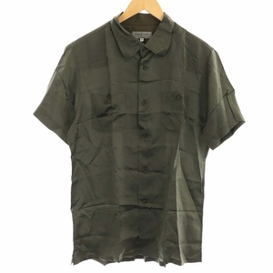 ヨウジヤマモトプールオム YOHJI YAMAMOTO POUR HOMME 10SS シャツ 半袖 胸ポケット 無地 3 M カーキ 緑 グリーン /PJ メンズ