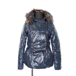 タトラス TATRAS フード付き ダウンジャケット コート ファー 長袖 36 ネイビー 紺 秋冬 レディース