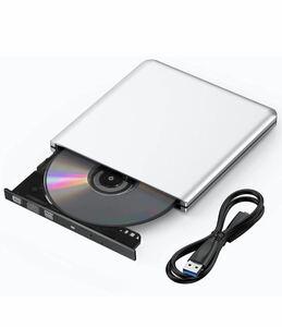 USB 3.0 DVDドライブ 外付け DVD プレイヤー ポータブルドライブ USB USB3.0 DVD 最新版