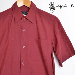 AA3643 アニエスベー aqgnis b 半袖シャツ 1 / S 肩幅40 メール便可 xq
