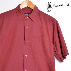 AA3645 アニエスベー aqgnis b 半袖シャツ 1 / S 肩幅43 メール便可 xq