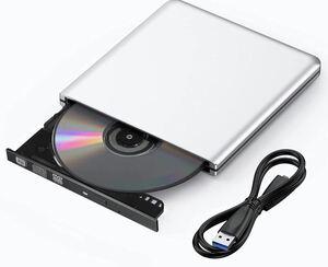 USB 3.0 DVDドライブ 外付け DVD プレイヤー ポータブルドライブ