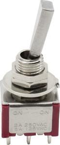 スイッチ Switch - Carling, Mini Toggle, DPDT, 2 Position, Solder Lugs, Flatted [送料170円から 同梱可]