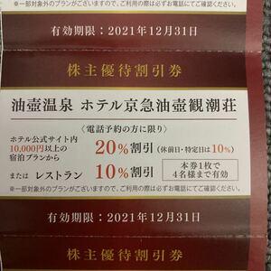 油壺温泉 ホテル京急油壺観潮荘 割引券