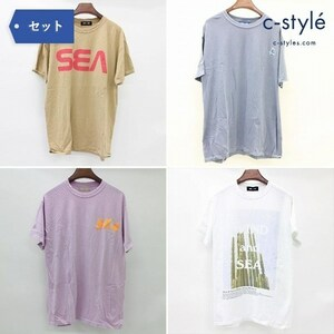 F475b [セット] WIND AND SEA ウィンダンシー Tシャツ カットソー 半袖 M 4点 サボテン TEE   トップス G