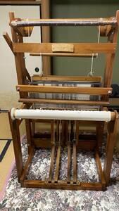 機織り機4枚綜絖(ろくろ式高機)職人による手作り品・組み立て済み