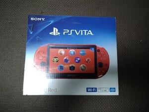 美品 PS Vita 本体 Wi-Fiモデル PCH-2000 ZA26 メタリックレッド