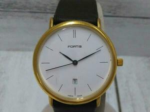【FORTIS】フォルティス 454.36.41 腕時計 クォーツ レディース 3針 カレンダー 電池交換済 中古