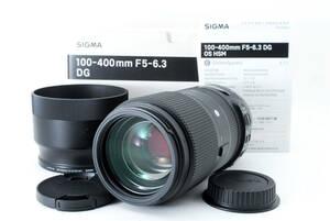 ★極上美品★ シグマ SIGMA Contemporary 100-400mm F5-6.3 DG OS HSM Canon EF キャノン用 元箱付 #807