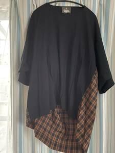 ヴィヴィアンウエストウッドマン ビッグTシャツ 未使用 チェック柄 タグあり