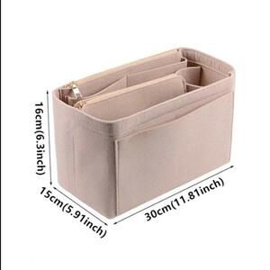 ベージュ バッグインバッグ  インナーバッグ 大容量 フェルト 軽量 バックインバック 高級感