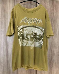 ANTHRAX Tシャツ バンドTシャツ バンド 90s ビンテージ メタル 古着 Lサイズ