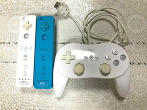 Wii Wiiリモコン コントローラー 3点セット 中古