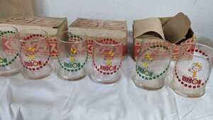 リボンシトロン くるくるグラス サッポロビールK.k. ガラスコップ 3箱-6個 未使用