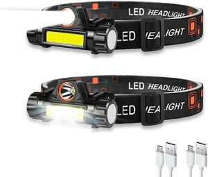ヘッドライト 充電式 ledヘッドライト アウトドア用ヘッドライト 高輝度 超軽