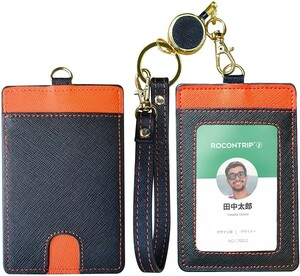 パスケース 本革IDカードケース ネームタグ番号札 スーツケース荷物用 定期入れ
