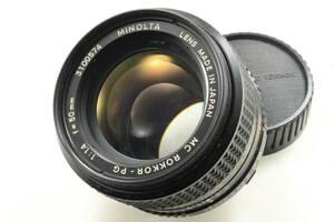 【並品】MINOLTA ミノルタ MC ROKKOR-PG 50mm F1.4 #1983