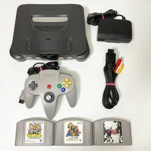 ★動作良好★ ニンテンドー64 ソフト3本つき すぐ遊べるセット Nintendo 64 ニンテンドウ64 920