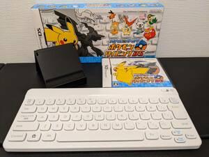 NDS ポケモンタイピングDS シロ ニンテンドーワイヤレスキーボード スタンド有り Nintendo DSソフト 電池蓋欠品