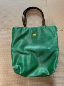 ハンドバッグ トートバッグ レザー 革 ブランド 掘り出し物 お宝 緑 グリーン 高級感 お洒落 オシャレ