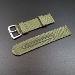 純正 SEIKO セイコー バンド 7S36-03J0用 22mm 腕時計 ナイロンベルト 緑 グリーン 4A212AL