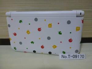 T-09170 /NINTENDOニンテンドー/3DS LL/とびだせどうぶつの森パック/ 本体のみ / レターパックプラス発送 / 初期化済み/ ジャンク扱い