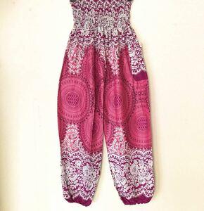 送料無料 番号:35 アラジンパンツ タイパンツ アジアンパンツ エスニック レーヨン サルエルパンツ 新品 ピンクと紫の中間色