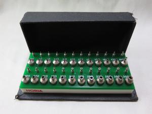 ☆ 上3mm、下4mm HORIA 穴石調整器用駒セット Ref-4+即決価格落札特典(インカブロック10個) 時計修理☆