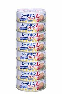 ◆残り1個!◆ 70g×8缶 wZ18t 【Amazon.co.jp限定】はごろも シーチキンLフレーク