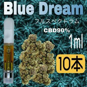 【限定土日10本セール】Bule Dream フルスペクトラム CBDリキッド 大麻テルペン希釈 90% 1ml