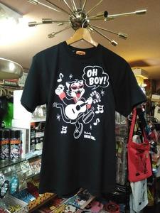 Lサイズ黒色ティミーOH BOY!Tシャツ!検索クリームソーダロカビリーブラックキャッツマジックマックショウCKBピンクドラゴン