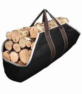 帆布 薪入れバッグ ショルダーバッグ 大容量トートバック 折り畳み アウトドア キャンプ