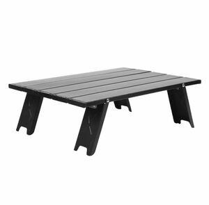折りたたみテーブル キャンプテーブル ローテーブル アウトドアテーブル 折りたたみ式 ブラック