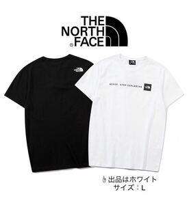 『新品タグ付 THE NORTH FACE ノースフェイス ロゴプリントTシャツ 半袖Tシャツ ホワイト L』