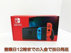 新品・未使用品 新型 Nintendo Switch 本体 スイッチ Joy-Con(L) ネオンブルー/(R) ネオンレッド 1A0421-0107yy/F4