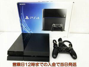 【1円】PS4 本体 セット 500GB ブラック SONY PlayStation4 CUH-1100A 動作確認済 箱 コントローラー DC06-389jy/F4