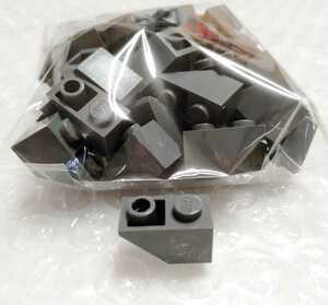 50個 1×2 逆スロープ ダークグレー 未組立 未使用 LEGO レゴ レゴブロック 部品 パーツ