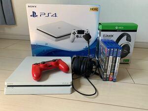 PlayStation4 ps4 ソフト4本セット ヘッドセット付き マイクあり ドラクエ11 まとめ売り