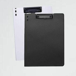 新品 未使用 クリップファイル クリップボ-ド 7-3T オフィス用品バインダ- (白黒(2個縦型)) a4資料ホルダ- 360度折り返し 軽量